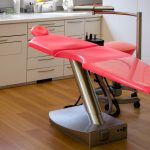 Red dentist chair